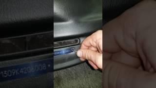 Bmw e30 dash vin plate replacement
