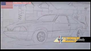 SPEED ART  Desenhando - Ford Mustang Foxbody Pt1