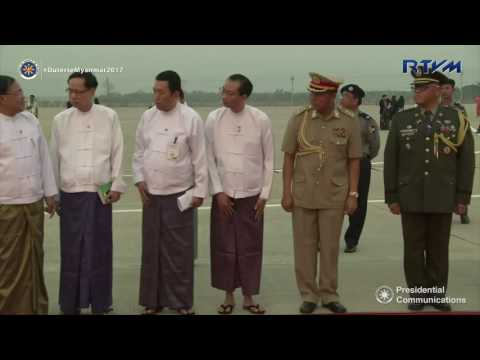 Arrival in the Republic of the Union of Myanmar 3/19/2017