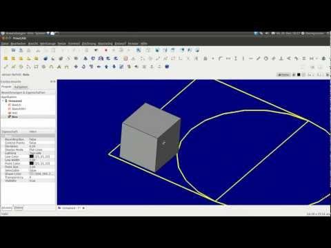 Linux : Free CAD Version 012  [ 2D + 3D , DXF ]