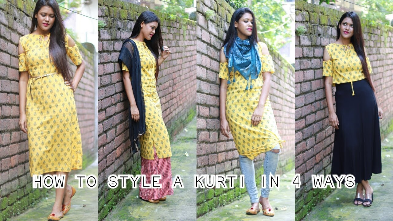 77bed1ea475 How to style a kurti in 4 different ways| Ethnic| Indo-western| Piu Ghose