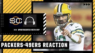 Reacting to Aaron Rodgers' drive to set up Packers win vs. 49ers | SC with SVP