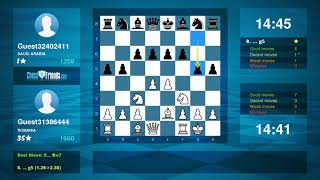 Chess Game Analysis: Guest31386444 - Guest32402411 : 0-1 (By ChessFriends.com)