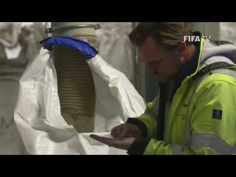 Recycling of the football turf pitches at the Home of FIFA