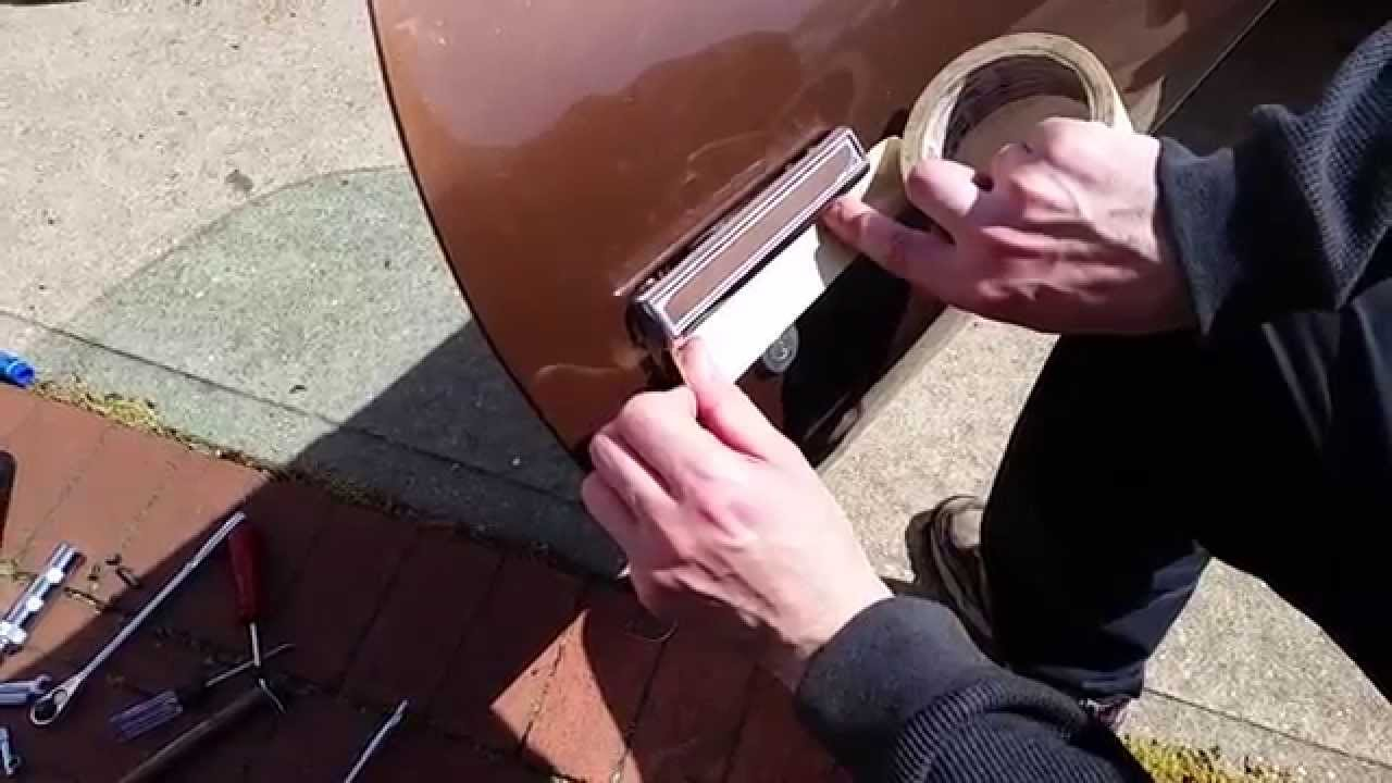 How To Replace A Car Door Handle - ex: Camaro 1970 - 1981 ...