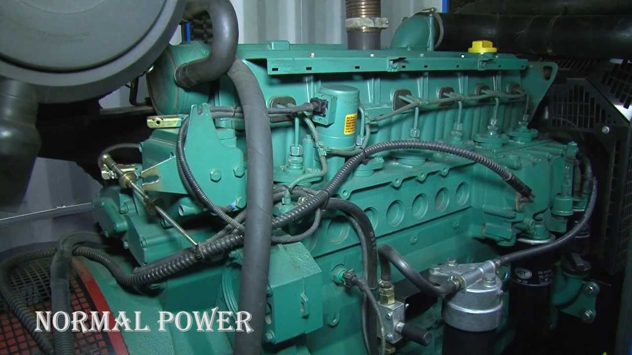 VOLVO PENTA generator 120 kva - YouTube