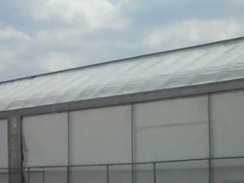 canadian tire greenhouse garden centre plastic roof hit   km winds part  youtube