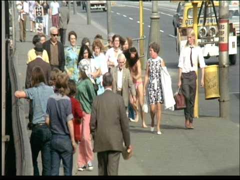 1973 Melbourne City Centre Swanston,Collins and Elizabeth Sts.