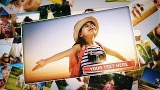 Upbeat 3D Photo Slideshow | After Effects Template (FREE DOWNLOAD)