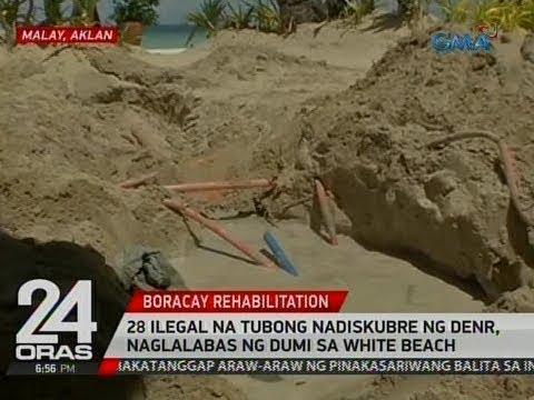 28 ilegal na tubong nadiskubre ng DENR, naglalabas ng dumi sa White Beach