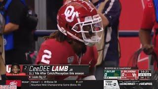 Oklahoma WR CeeDee Lamb (8 REC, 173 YDS) vs Baylor (BIG 12 Championship)