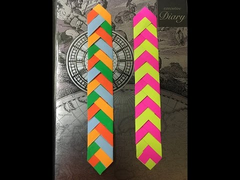 DIY Paper Chevron Bookmark Tutorial - Easy to do
