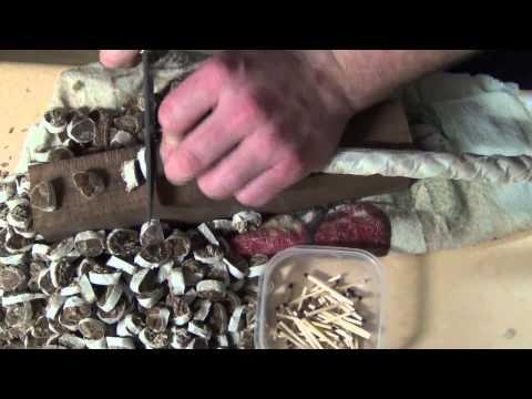 Рез каната. Нож Буртякова Николая. Дамасская сталь. Джутовый канат 16 мм.