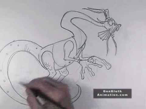 Don Bluth Animation Tutorials:  Draw as you Please