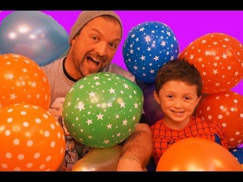 Giant Balloon Drop Pop Challenge Surprise Toys Kinder