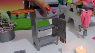 Barbie Barbekü Tadilatı - Barbie Yeni Oyuncağı Nasıl Mahvedilir? DIY - Bidünya Oyuncak