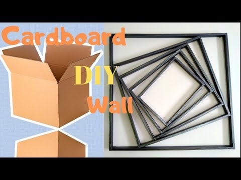DIY Cardboard Wall art hanging | Make Simple wall decor at home