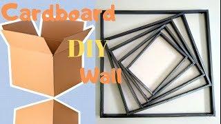Diy Cardboard Wall Art Hanging | Make Simple Wall Decor At Home