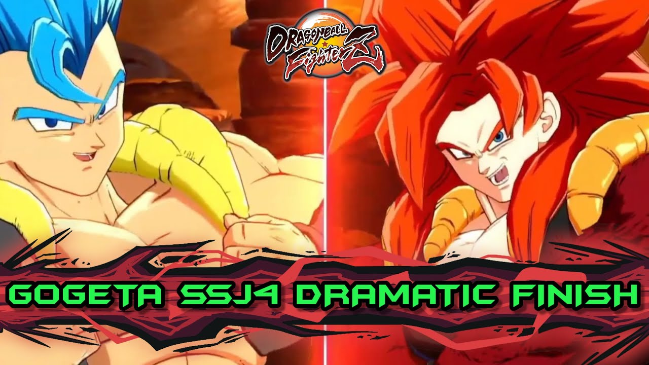 GOGETA SSJ4 vs GOGETA BLUE DRAMATIC FINISH!! ( Más fecha de lanzamiento) DRAGON BALL FIGHTERZ