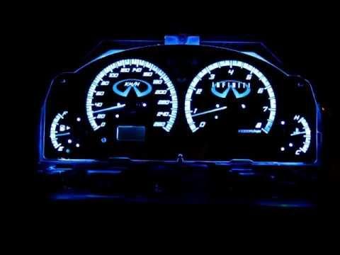 Custom LED colour changing G35 sedan gauges prelim video ...