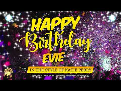 Happy Birthday to Evie In the Style of Katie Perry | Celebrity | Personalised | Party