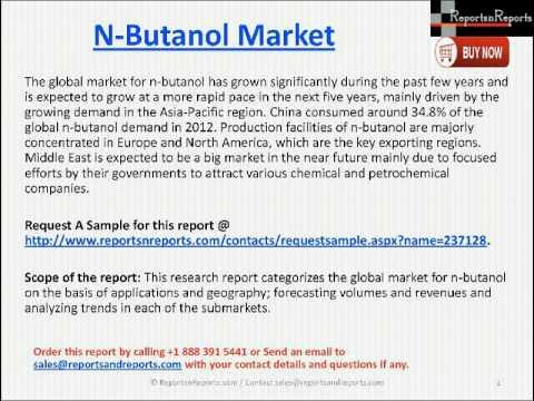 N-Butanol Market 2018 - Butyl Acrylate, Butyl Acetate, Glycol Ethers and Other Analysis