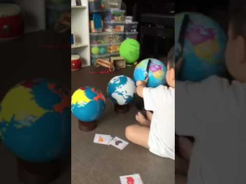 Finding Australia on the globe