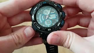 мужские часы Skmei Nitro / 1211. Видео обзор!  Инструкция! Как настроить!