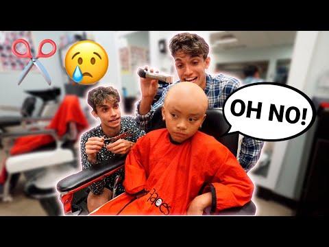 Back To School Bald Head Haircut PRANK On Little Sister!