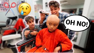 Back To School Bald Head Haircut PRANK On Little Sister!