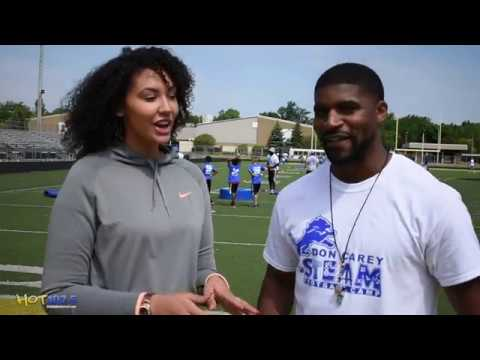 Detroit Lions Don Carey Host STEAM Football Camp in Detroit
