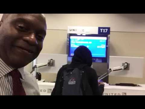 Kevin Brooks At United Airlines Atlanta Airport Gate T-15