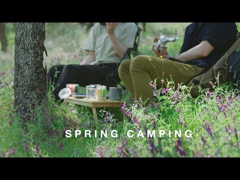 camping-vlog|spring-wildflowers-hill-picnic|oysters-in-the-forest|camping-kitchen