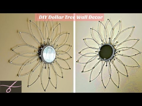 DIY Mirror Wall Decor with Dollar Tree wire wreaths