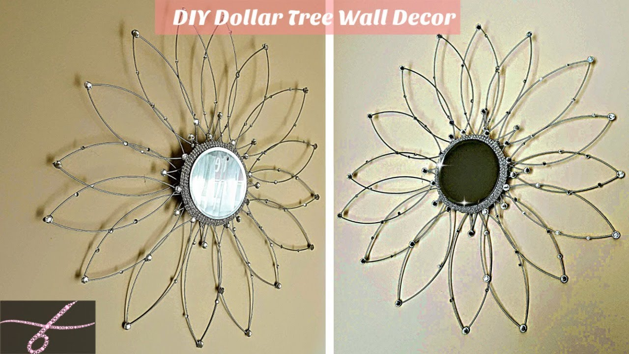 DIY Turn Wire Wreath into Mirror Wall Decor - Dollar Tree DIY Glam ...