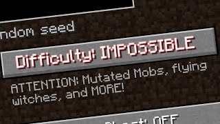 THE NEW MINECRAFT DIFFICULTY!