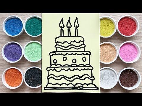 Ch峄� Chim Xinh T脭 M脌U TRANH C脕T B脕NH SINH NH岷琓 3 T岷G - 膼峄� ch啤i tr岷� em - Colored Sand Painting toys
