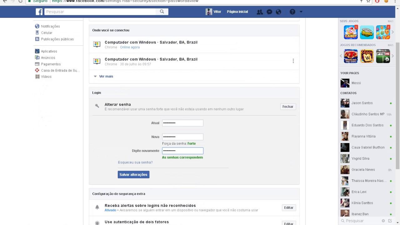 Como Trocar a Senha do Facebook 2017  Atualizado - YouTube 4158535abe3