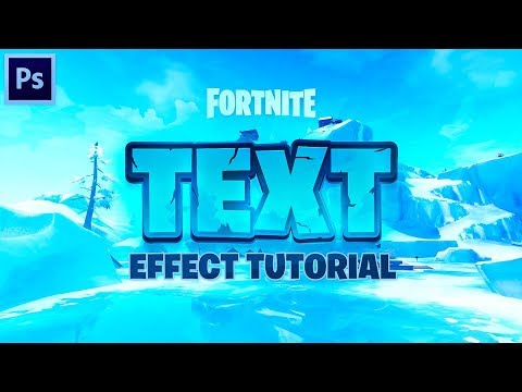 Tutorial: Creating An EPIC Fortnite Text Effect In Photoshop! (EASY)