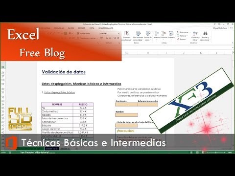 Validación de Datos 03. Listas desplegables técnicas básicas e intermedias. Excel 2013