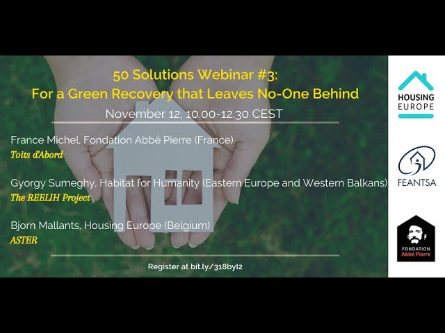 HSP #50Solutions Webinar 3: For a Green Recovery that Leaves No-one Behind