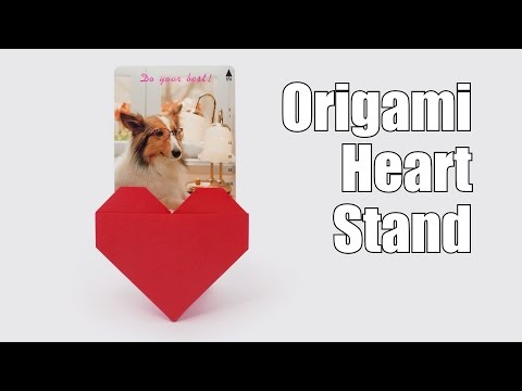 Origami Heart Stand-Jo Nakashima