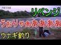 【ウナギ釣り】雨上がりの濁った川にてリベンジ