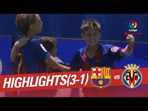 Resumen de FC Barcelona vs Villarreal CF (3-1)