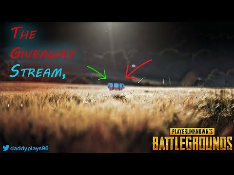 PUBG Live - The Giveaway Stream (back online)
