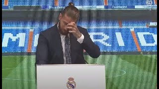 Sergio Ramos se emociona y se despide del Real Madrid: