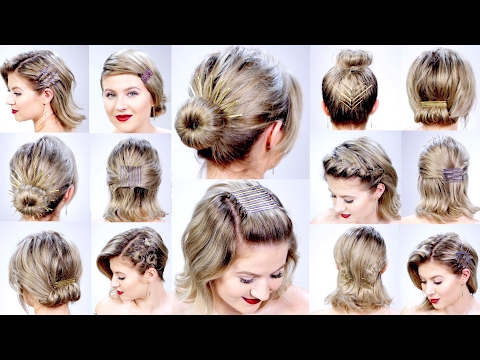 11 Super Easy Hairstyles With Bobby Pins For Short Hair Milabu Youtube