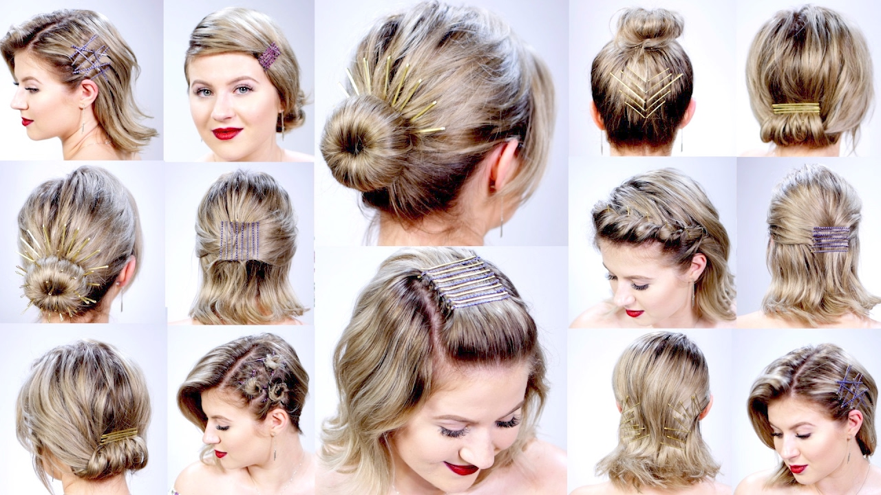 12 SUPER EASY HAIRSTYLES WITH BOBBY PINS FOR SHORT HAIR  Milabu