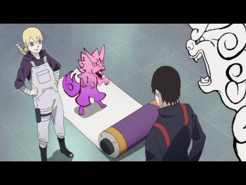 Sai Teaching Inojin How To Use Super Beast Scroll - Boruto: Naruto Next Generations!