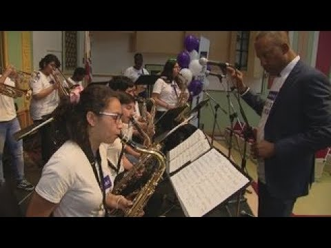 South LA school surprised with $100K in musical instruments